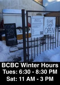 BCBC Winter Hours